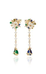Anabela Chan M'o Exclusive Emerald Paradise Drop Earrings Gold