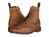 Grenson Fred Tan Calf Men's Lace Up Boots Brown