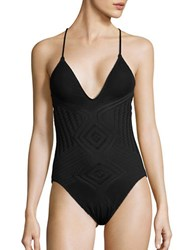 Polo Ralph Lauren Knitted Crisscross Swimsuit Black