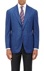 Sciamat Men's Brushed Twill Two Button Sportcoat Blue