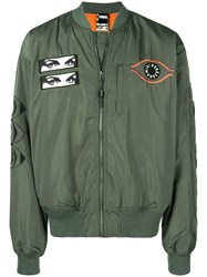 P.A.M. Perks And Mini Pam Patch Detail Bomber Jacket Green