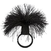 Amara Tassel Napkin Rings Set Of 4 Black