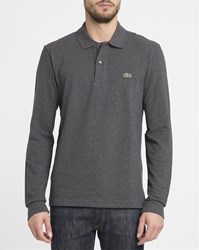 Lacoste Mottled Grey Ls Polo Shirt