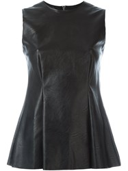 Maison Martin Margiela Mm6 Fake Leather Sleeveless Top Black