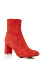 Maryam Nassir Zadeh Agnes Suede Ankle Boots Red