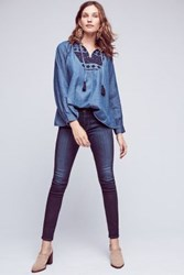 Anthropologie Ag Abbey Low Rise Legging Jeans Dark Denim