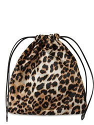 Miu Miu Animal Print Faille Clutch Leopardo