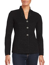 St. John Shimmer Slim Fit Jacket Black