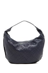 Christopher Kon Woven Leather Hobo Blue