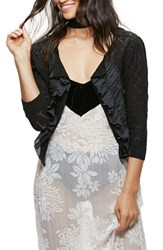 Free People Women's Tiny Dancer Ruffle Cardigan