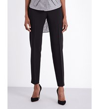 Antonio Berardi Tapered Stretch Crepe Trousers Black