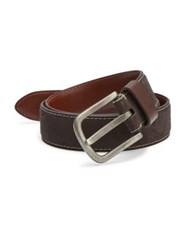 Saks Fifth Avenue Contrast Stitched Leather Belt Brown