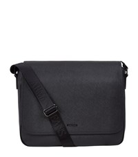 Armani Jeans Laptop Messenger Bag Unisex Black