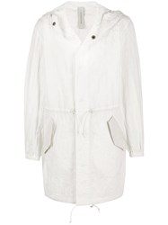 Giorgio Brato Hooded Parka Coat White