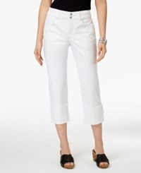 Style And Co Co. Capri Jeans Only At Macy's Bright White