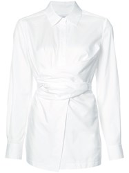 Yigal Azrouel Belted Shirt White