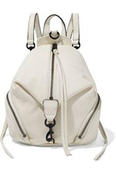 Rebecca Minkoff Woman Julian Mini Convertible Pebbled Leather Backpack Ivory