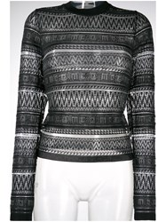 Mcq By Alexander Mcqueen Patterned Knit Sweater Black