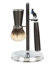 Cedes Milano Carbon Fibre Shaving Set