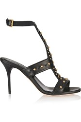 Alexander Mcqueen Studded Leather Sandals Black