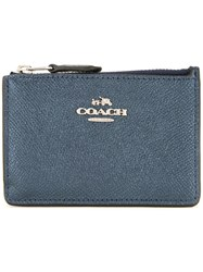 Coach Mini Zipped Wallet Blue