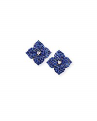 Piranesi Blue Sapphire Flower Earrings
