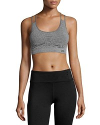 Marika Tek Seamless Double Strap Sports Bra Charcoal