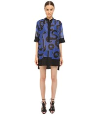 Proenza Schouler Shirtdress Cover Up Cobalt Black White