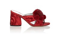 Marc Jacobs Women's Aurora Chenille Jacquard Mules Red