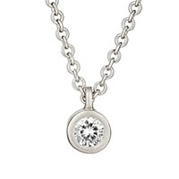 Tate White Diamond Pendant Necklace White Gold