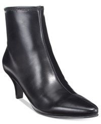 Impo Neil Pointed Toe Booties Black