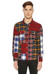 Stussy Patchwork Plaid Cotton Flannel Shirt