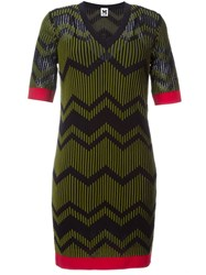 M Missoni Zigzag Intarsia Dress Black