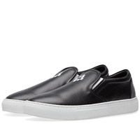 Marcelo Burlon Logo Slip On Sneaker Black