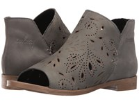Coolway Nelia Grey Leather Women's Toe Open Shoes Gray