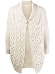 Ma'ry'ya Cable Knit Cardigan Neutrals