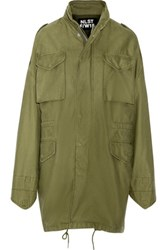 Nlst Desert M65 Oversized Hooded Cotton Jacket Army Green