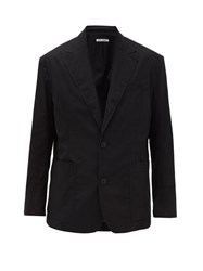 Our Legacy 70'S Club Single Breasted Cotton Blazer Black