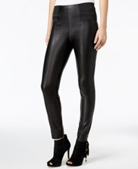 Guess Suzanne Faux Leather Leggings Jet Black