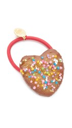 Venessa Arizaga Sugar Heart Hair Tie Sugar Cookie Multi