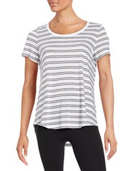Marc New York Striped Tee White