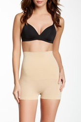Heavenly Secrets Seamless Mid Waist Boy Leg Brief Plus Size Available Beige