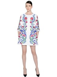 Andrew Gn Floral Embroidered Washed Linen Coat