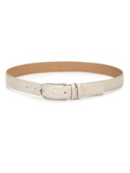 Lafayette 148 New York Embossed Crocodile Leather Belt Oro Multi
