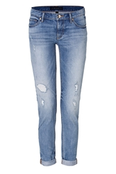 Juicy Couture Straight Leg Rolled Cuff Jeans