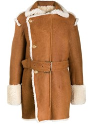 Ann Demeulemeester Shearling Lined Coat 60