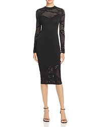 Milly Fractured Pointelle Dress Black