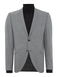 Selected Mylo Logan Plain Weave Suit Jacket Grey
