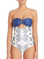 Lalesso One Piece Sungura Swimsuit Blue Multi