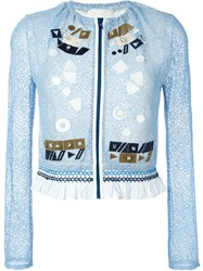 Peter Pilotto 'Solar' Embroidered Jacket Blue
